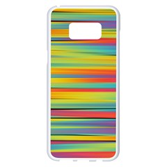 Colorful Background Pattern Samsung Galaxy S8 Plus White Seamless Case