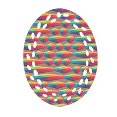 Background Abstract Colorful Ornament (oval Filigree) by Wegoenart