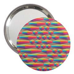 Background Abstract Colorful 3  Handbag Mirrors