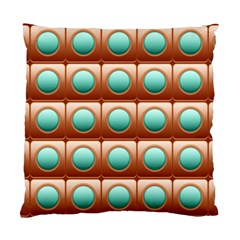 Abstract Background Circle Square Standard Cushion Case (one Side)
