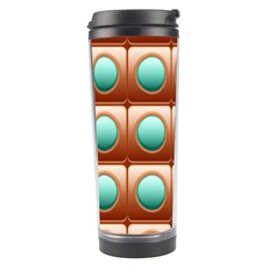 Abstract Background Circle Square Travel Tumbler