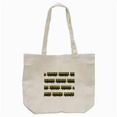 Trains Pattern Transportation Tote Bag (cream) by Wegoenart