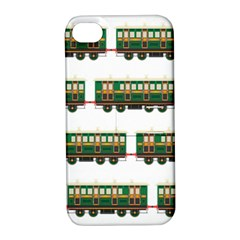 Trains Pattern Transportation Apple Iphone 4/4s Hardshell Case With Stand