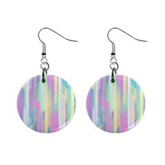 Background Abstract Pastels Mini Button Earrings