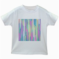 Background Abstract Pastels Kids White T Shirts