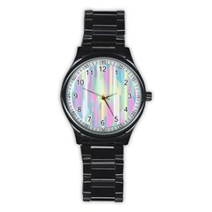 Background Abstract Pastels Stainless Steel Round Watch