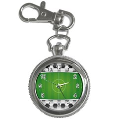 Background Sports Soccer Football Key Chain Watches by Wegoenart