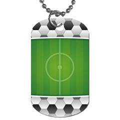 Background Sports Soccer Football Dog Tag (two Sides) by Wegoenart