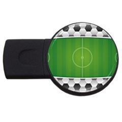 Background Sports Soccer Football Usb Flash Drive Round (2 Gb)