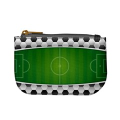 Background Sports Soccer Football Mini Coin Purse