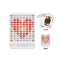 Valentine Valentines Day Card Love Playing Cards (mini) by Wegoenart