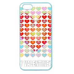 Valentine Valentines Day Card Love Apple Seamless Iphone 5 Case (color)