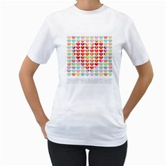 Valentine Valentines Day Card Love Women s T-shirt (white)