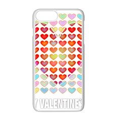 Valentine Valentines Day Card Love Apple Iphone 7 Plus Seamless Case (white)