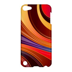 Abstract Colorful Background Wavy Apple Ipod Touch 5 Hardshell Case