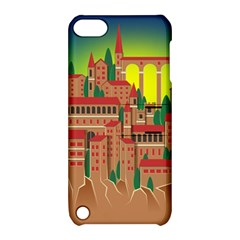 Mountain Village Village Medieval Apple Ipod Touch 5 Hardshell Case With Stand