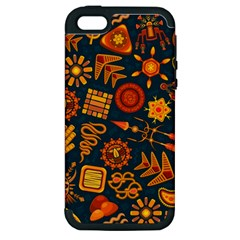 Pattern Background Ethnic Tribal Apple Iphone 5 Hardshell Case (pc+silicone)