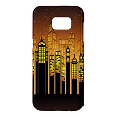 Buildings Skyscrapers City Samsung Galaxy S7 Edge Hardshell Case
