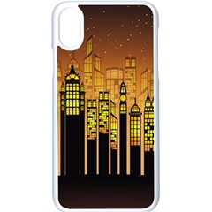 Buildings Skyscrapers City Apple Iphone Xs Seamless Case (white)
