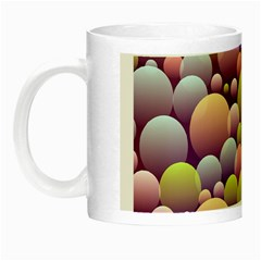 Abstract Background Circle Bubbles Night Luminous Mugs