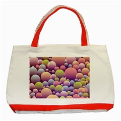 Abstract Background Circle Bubbles Classic Tote Bag (red)