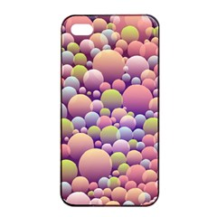 Abstract Background Circle Bubbles Apple Iphone 4/4s Seamless Case (black)