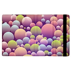 Abstract Background Circle Bubbles Apple Ipad 2 Flip Case