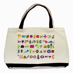 Shapes Abstract Set Pack Basic Tote Bag by Wegoenart