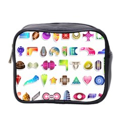 Shapes Abstract Set Pack Mini Toiletries Bag (two Sides)