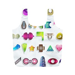 Shapes Abstract Set Pack Full Print Recycle Bag (m)