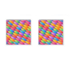 Colorful Background Abstract Cufflinks (square)