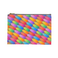 Colorful Background Abstract Cosmetic Bag (large)