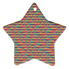 Background Abstract Colorful Star Ornament (two Sides)