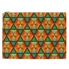 Background Triangle Abstract Golden Cosmetic Bag (xxl)