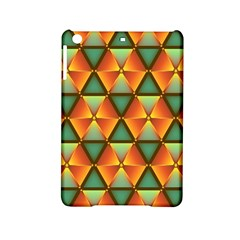 Background Triangle Abstract Golden Ipad Mini 2 Hardshell Cases