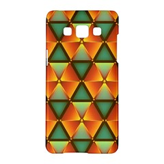 Background Triangle Abstract Golden Samsung Galaxy A5 Hardshell Case