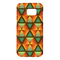 Background Triangle Abstract Golden Samsung Galaxy S7 Edge Hardshell Case
