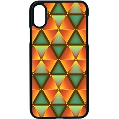 Background Triangle Abstract Golden Apple Iphone Xs Seamless Case (black) by Wegoenart