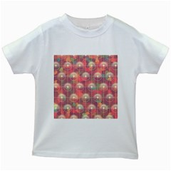 Colorful Background Abstrac Pattern Kids White T Shirts