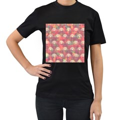 Colorful Background Abstrac Pattern Women s T Shirt (black)