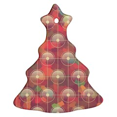 Colorful Background Abstrac Pattern Christmas Tree Ornament (two Sides)