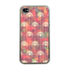 Colorful Background Abstrac Pattern Apple Iphone 4 Case (clear)