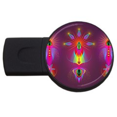 Abstract Bright Colorful Background Usb Flash Drive Round (4 Gb)