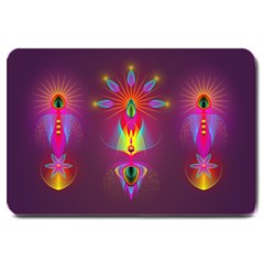 Abstract Bright Colorful Background Large Doormat