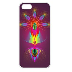 Abstract Bright Colorful Background Apple Iphone 5 Seamless Case (white)