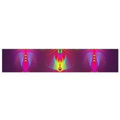 Abstract Bright Colorful Background Small Flano Scarf