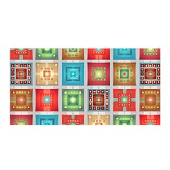 Tiles Pattern Background Colorful Satin Wrap
