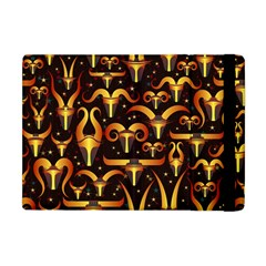 Stylised Horns Black Pattern Apple Ipad Mini Flip Case