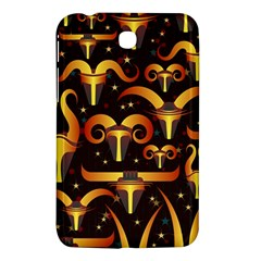 Stylised Horns Black Pattern Samsung Galaxy Tab 3 (7 ) P3200 Hardshell Case