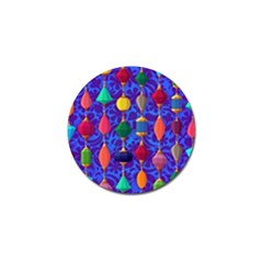 Colorful Background Stones Jewels Golf Ball Marker (4 Pack)